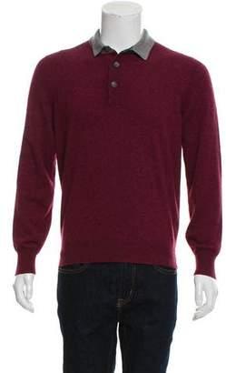 Brunello Cucinelli Cashmere Polo Sweater