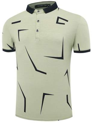d062395152bf BYWX Men Summer Slim Fit Short Sleeve Polo T Shirt Golf Tee Tops US XL