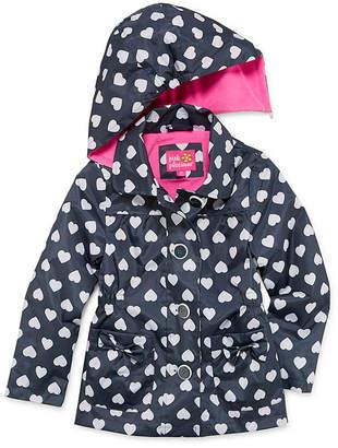 Pink Platinum Girls Raincoat-Preschool