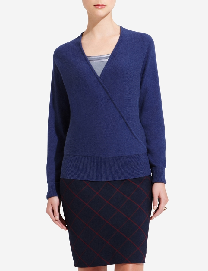 The Limited Cotton Cashmere Wrap Sweater