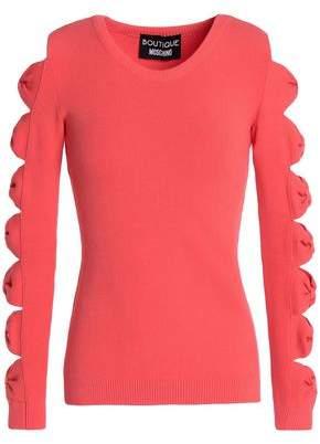 Moschino Cutout Stretch-Knit Sweater