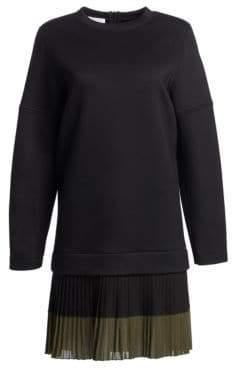 Akris Punto Pleated Sweatshirt Dress