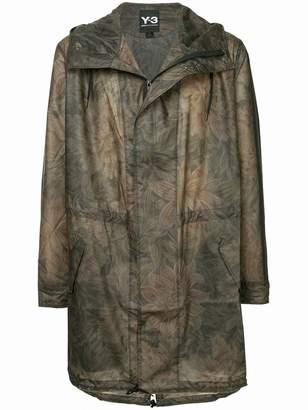 Y-3 camouflage print raincoat