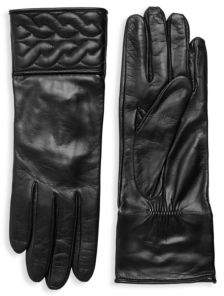 Portolano Quilted Braid Leather Gloves