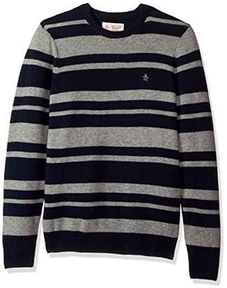 Original Penguin Men's Striped Wool Crew Sweater
