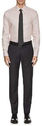 Armani Collezioni MEN'S STRIPED LINEN-COTTON DRESS SHIRT