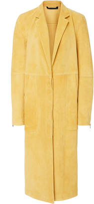 Sally LaPointe Lightweight Suede Seamed Tailored Coat