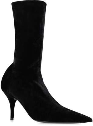Balenciaga Velvet Knife Boots 40