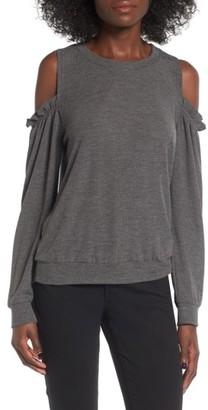 Women's Socialite Ruffle Cold Shoulder Top $39 thestylecure.com