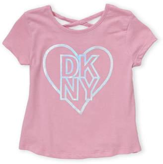 DKNY Girls 7-16) Love Logo Top