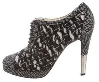 Chanel CC Round-Toe Booties Black CC Round-Toe Booties