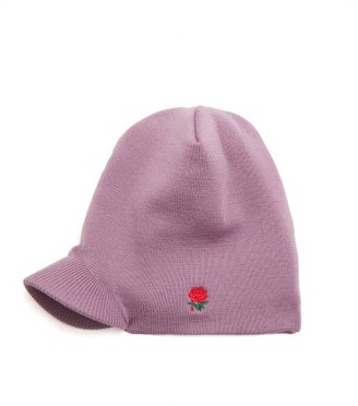 Undercover Rose Embroidered Beanie Hat - Mens - Purple