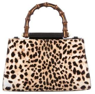 Gucci Leopard Print Calf Hair Mini Nymphaea