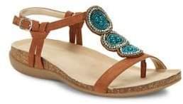Bandolino Hamper Suede Beaded Sandals