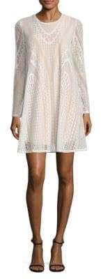 BCBGMAXAZRIA Solid Knit Lace Dress