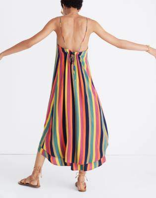 Madewell x Tavik Lucca Cover-Up Dress in Rainbow Stripe