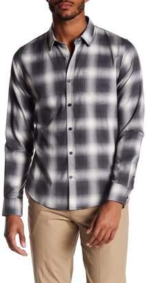 Vince Shadow Plaid Trim Fit Shirt