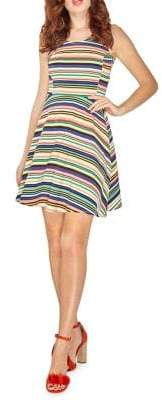 Dorothy Perkins Striped Fit-and-Flare Dress