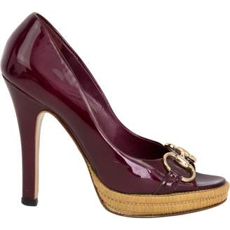 Gucci Burgundy Patent leather Heels