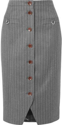 Altuzarra Pinstriped Wool-blend Pencil Skirt - Gray