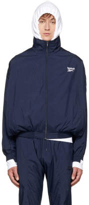 Vetements Navy Reebok Edition Reworked Tracksuit Jacket