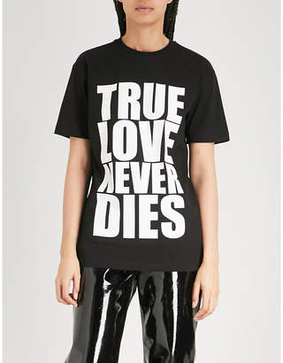 Gareth Pugh True Love print cotton-jersey T-shirt