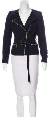MICHAEL Michael Kors Leather-Accented Zip-Up Jacket
