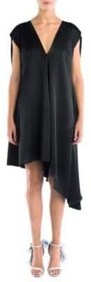 MSGM Asymmetric Flowy Dress