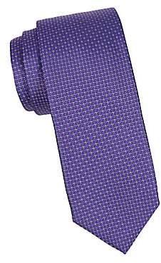 Canali Men's Mini Circle Dot Silk Tie