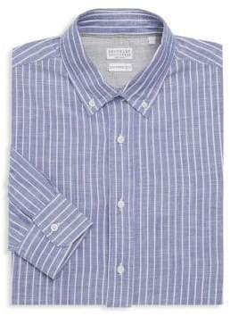 Brunello Cucinelli Leisure Fit Striped Dress Shirt