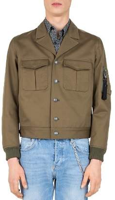 The Kooples Gabardine Eisenhower Jacket