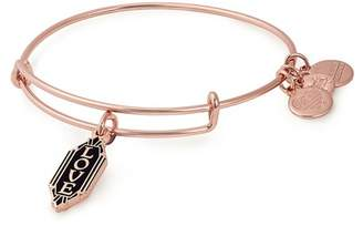 Alex and Ani Color Infusion Love Charm Expandable Wire Bracelet