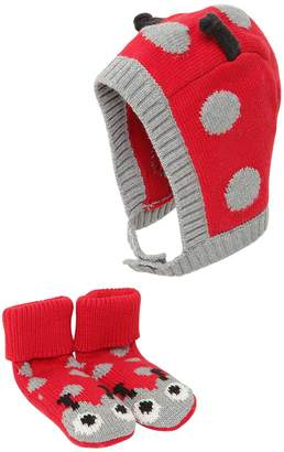 Stella McCartney Ladybugs Intarsia Cotton Hat & Socks