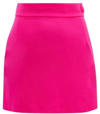 ATTICO The High Rise Wool Blend Mini Skirt - Womens - Fuchsia