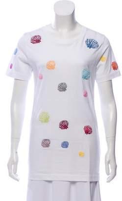 Rosie Assoulin Embroidered Crew Neck T-Shirt