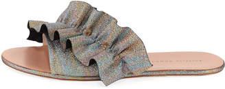Loeffler Randall Rey Ruffled Flat Slide Sandals