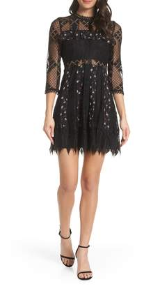 Foxiedox Josefine Lace & Clip Dot Cocktail Dress