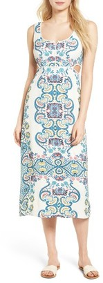 Women's Ella Moss Lover Tapestry Midi Dress $238 thestylecure.com