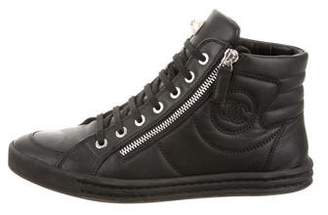 Chanel CC High-Top Sneakers