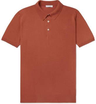Boglioli Slim-Fit Garment-Dyed Cotton Polo Shirt