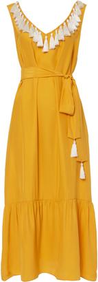 Rhode Resort Tasseled V-Neck Maxi Dress