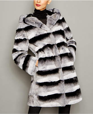 The Fur Vault Rex Rabbit Fur Coat