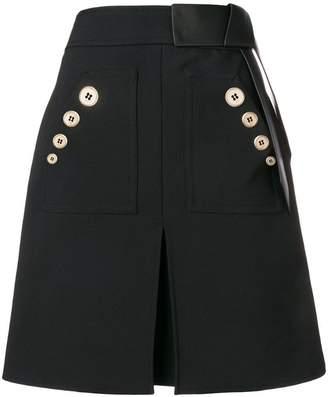 Elisabetta Franchi contrast buttons skirt