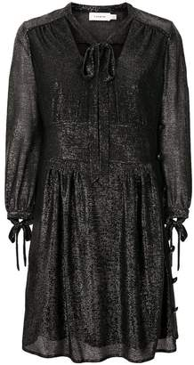 Coach tie-neck metallic dress