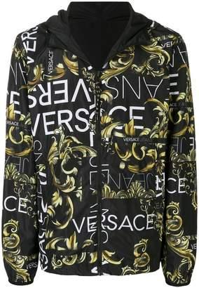 Versace logo baroque print jacket