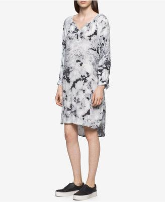 Calvin Klein Jeans Printed Shift Dress $79.50 thestylecure.com