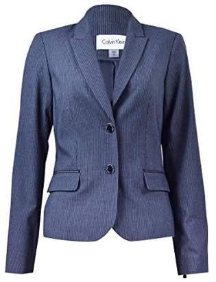 Calvin Klein Women's Petite Size 2 Button Pinstripe Jacket