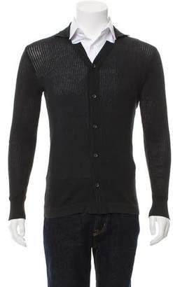 Dolce & Gabbana Rib Knit Notch-Lapel Cardigan
