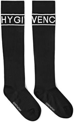 Givenchy Intarsia Ribbed Wool-blend Socks - Black