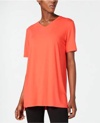 Eileen Fisher Stretch Jersey V-Neck Top, Regular & Petite